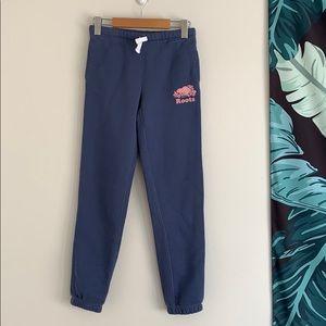 Roots Girl's Original Sweatpants Blue&Pink Sz 12